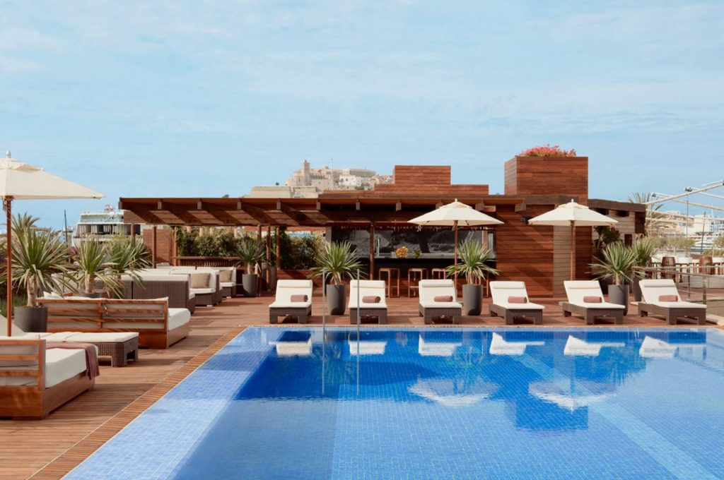 Ibiza Gran Hotel Gallery Pool Up View Dalt Vila2