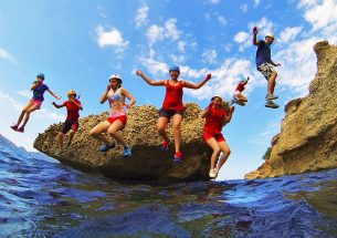 Cliff Jump Team Building